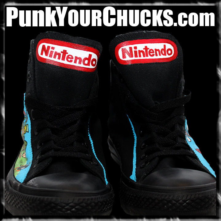 Nintendo high Chucks design 2 tongues