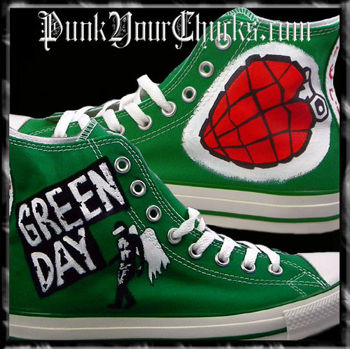 Green Day Heart Grenade high Chucks main