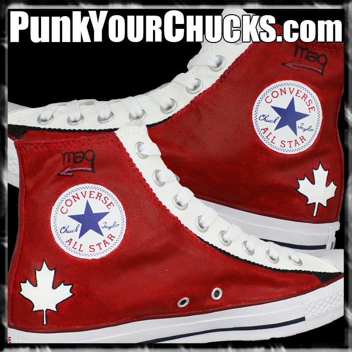 Canadian Flag High Chucks insides