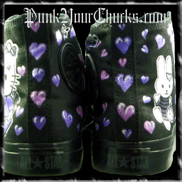 Hello Kitty High Chucks purple spines