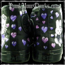 Hello Kitty High Chucks purple spines