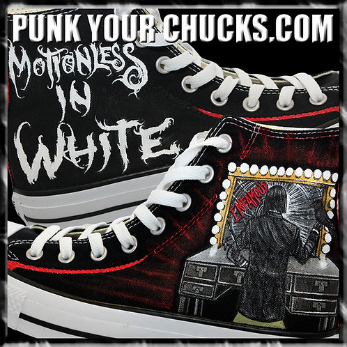 Motionless in White Custom Converse Sneakers