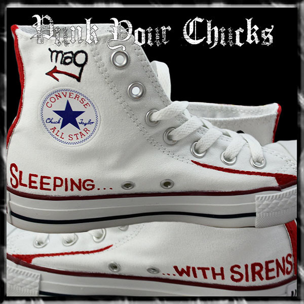 Sleeping with Sirens High Chucks insides