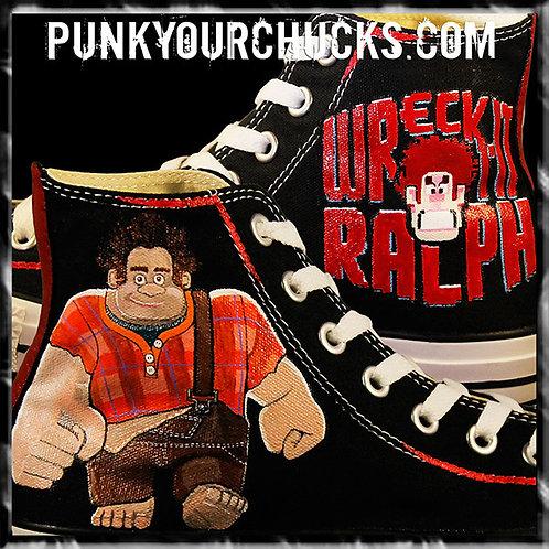 Wreck It Ralph Custom Converse Sneakers