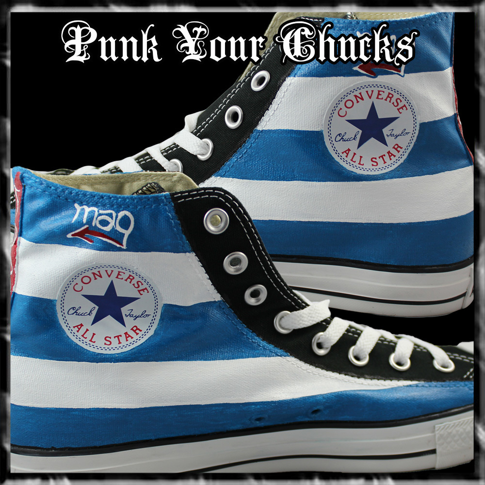 Cuban Flag high Chucks insides
