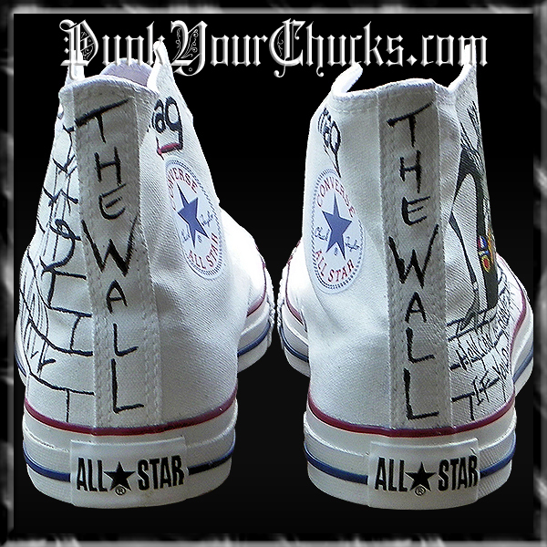 Pink Floyd The Wall high Chucks spines