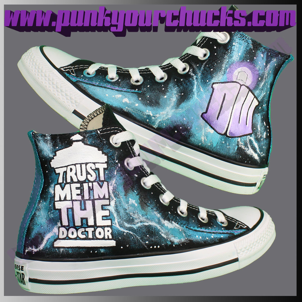 Doctor Who high Chucks DESIGN 3 Main