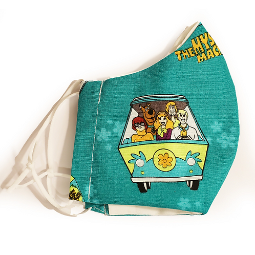Scooby Doo Mystery Machine Cotton Face Mask w/Elastic