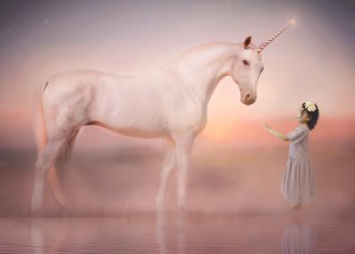 Composite Portrait with Unicorn