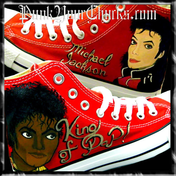 Michael Jackson King and Thriller Chucks