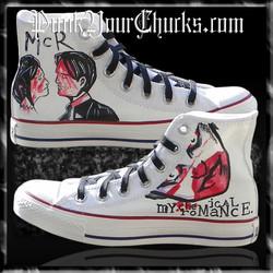 My Chemical Romance high Chucks MAIN WHI