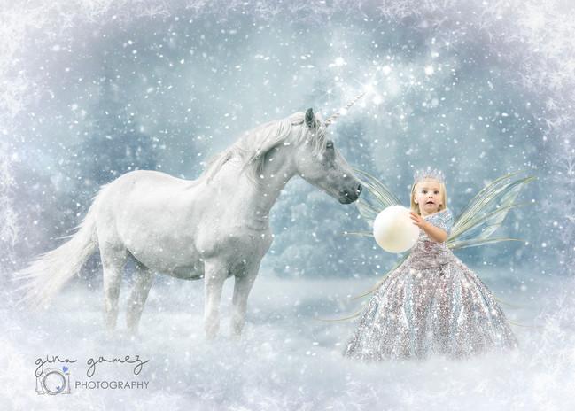 Unicorn in Snow