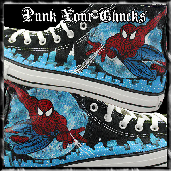 Spiderman Design 2 High Chucks MAIN