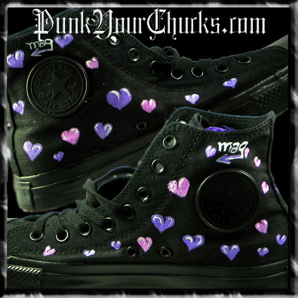 Hello Kitty High Chucks purple insides
