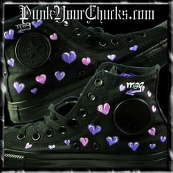 Hello Kitty High Chucks purple insides