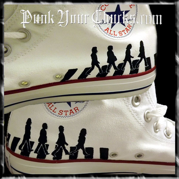 Beatles B&W High Chucks insides