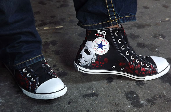 Chad Szeliga wearing his custom sneakers.jpg