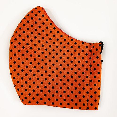 Halloween - Black Polka Dots on Orange
