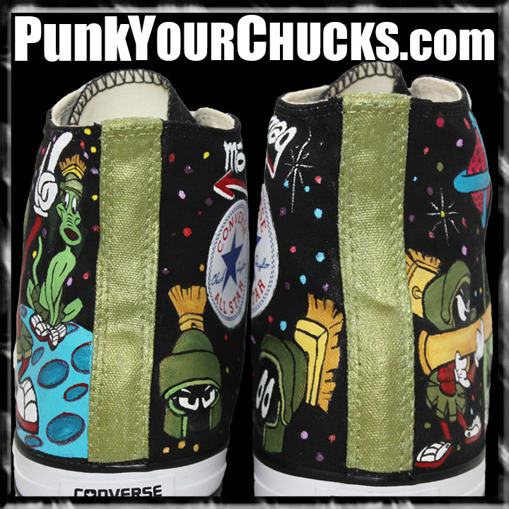 Marvin the Martian High Chucks Design 1