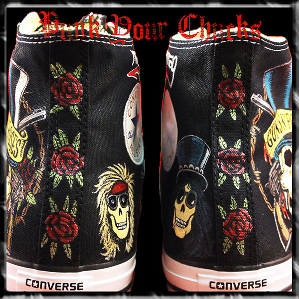 Guns and Roses High Chucks spine