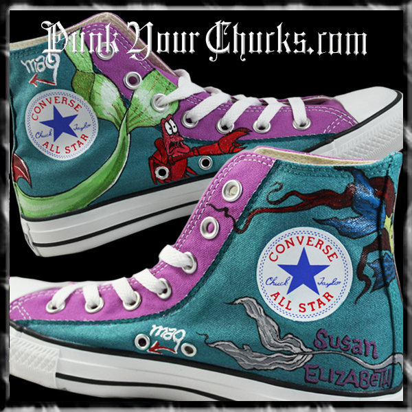 Little mermaid and Zombie High Chucks in