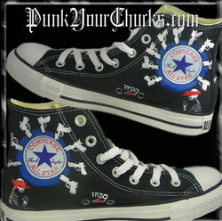 My Chemical Romance high Chucks insides.