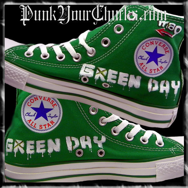 Green Day Heart Grenade high Chucks insi