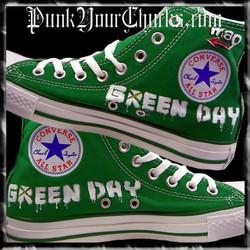 Green Day Heart Grenade high Chucks insi