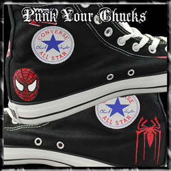 Spiderman Design 2 High Chucks insides