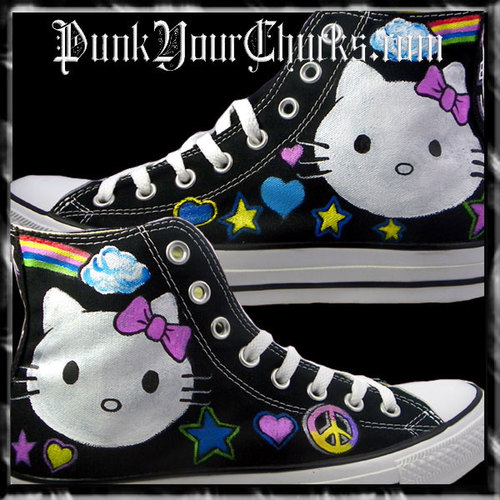 Hello Kitty High Chucks white face main.