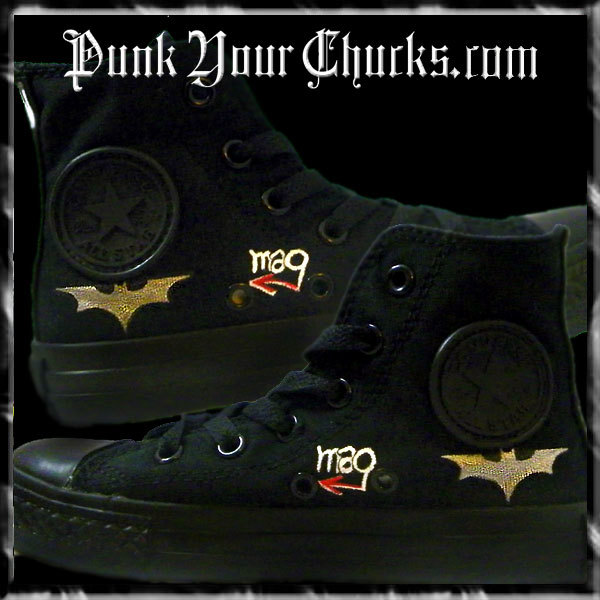 Batman High Chucks inside