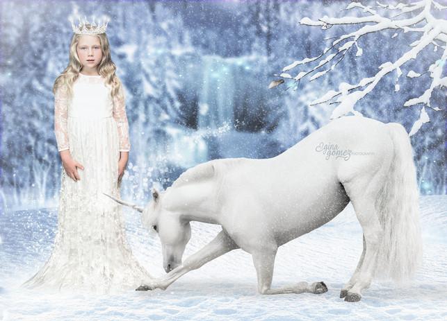 Ice Princess with Unicorn
