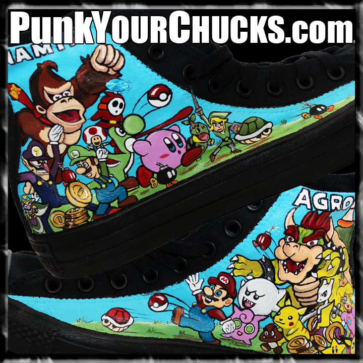 Nintendo high Chucks design 2 main