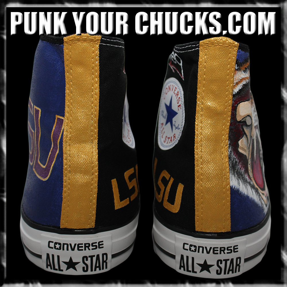 College Sports Teams LSU High Chucks spi