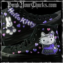 Hello Kitty High Chucks purple main