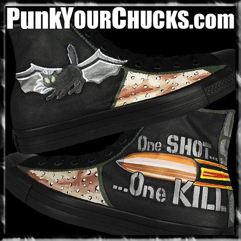 USMC One Shot Custom Converse Sneakers