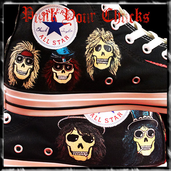 Guns and Roses High Chucks inside