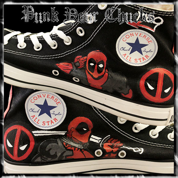 Deadpool Design 1 high chucks insides