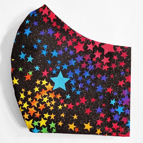 Multi Color Stars with Glitter