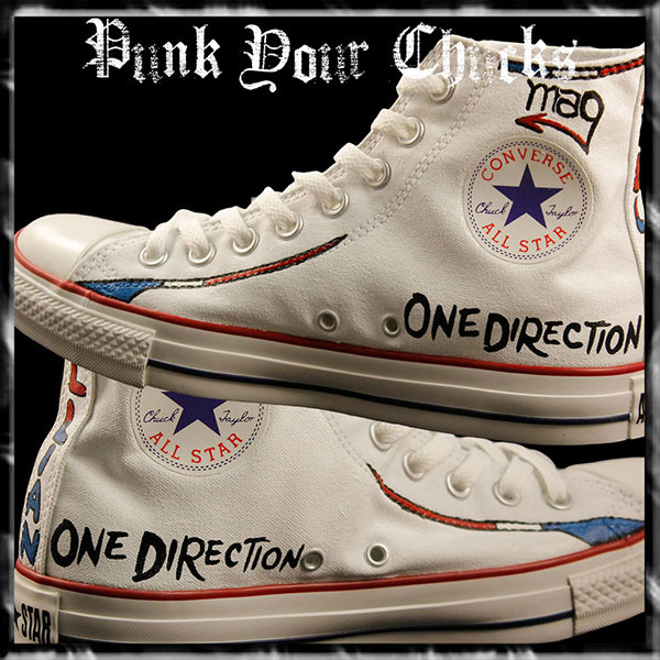 1D band British Flag high Chucks insides