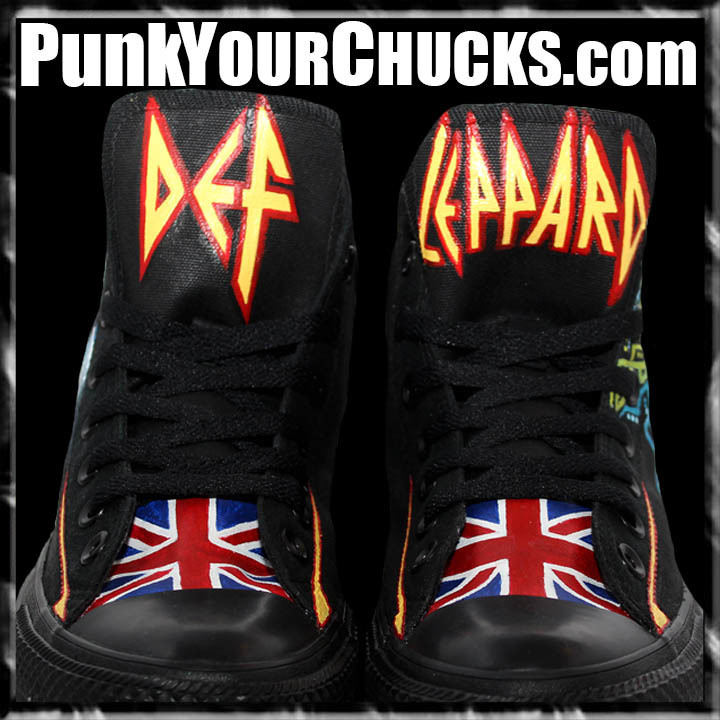 Def Leppard PYROMANIA High Chucks tongue