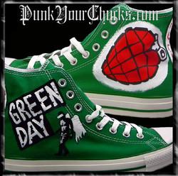 Green Day Heart Grenade high Chucks main