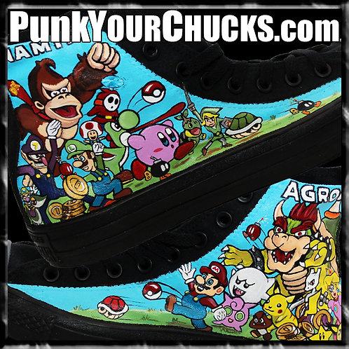Nintendo Custom Converse Sneakers