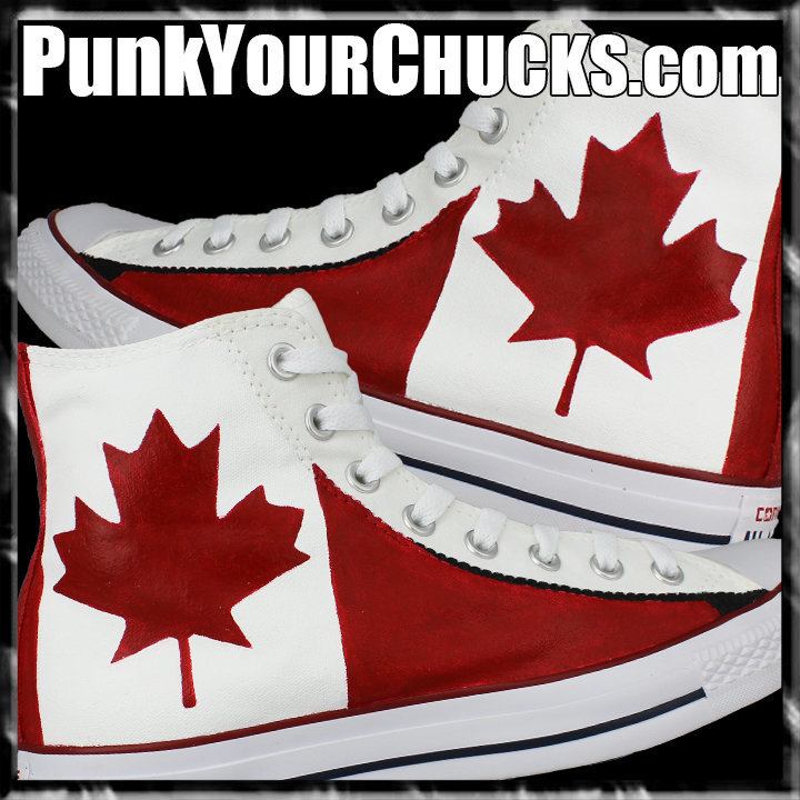Canadian Flag High Chucks main