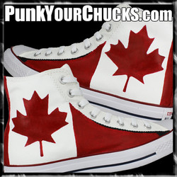 Canadian Flag High Chucks main