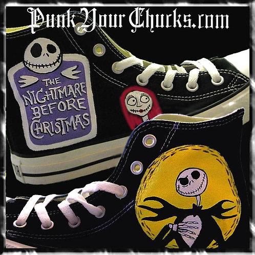Nightmare Before Christmas Custom Converse Sneakers