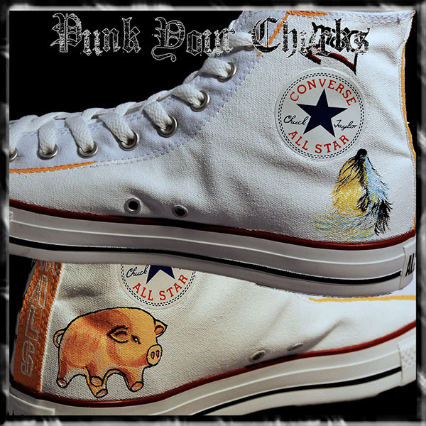 Pink Floyd Animals High Chucks insides