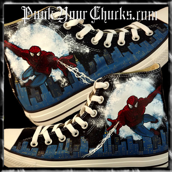 Spiderman Design 1 High Chucks MAIN