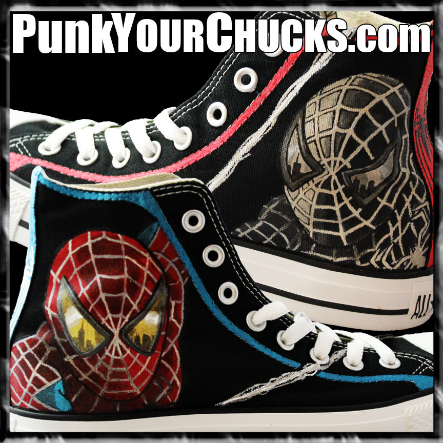 Spiderman Design 4 High Chucks MAIN
