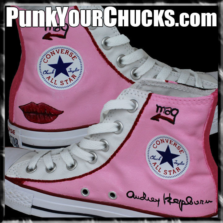 Audrey Hepburn high Chucks insides